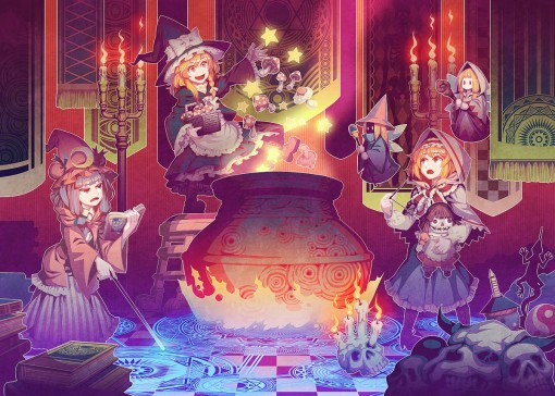 Witches Brew, Kirisame Marisa, Patchouli Knowledge, Alice Margatroid (zounose)