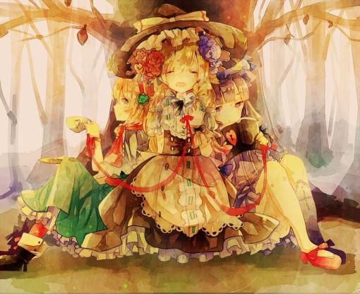 Kirisame Marisa, Patchouli Knowledge, Alice Margatroid (cha goma)